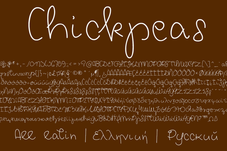 Chickpeas Demo Font