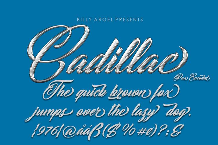 CADILLAC Font