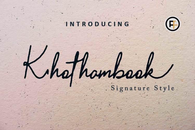 Khothambook Font