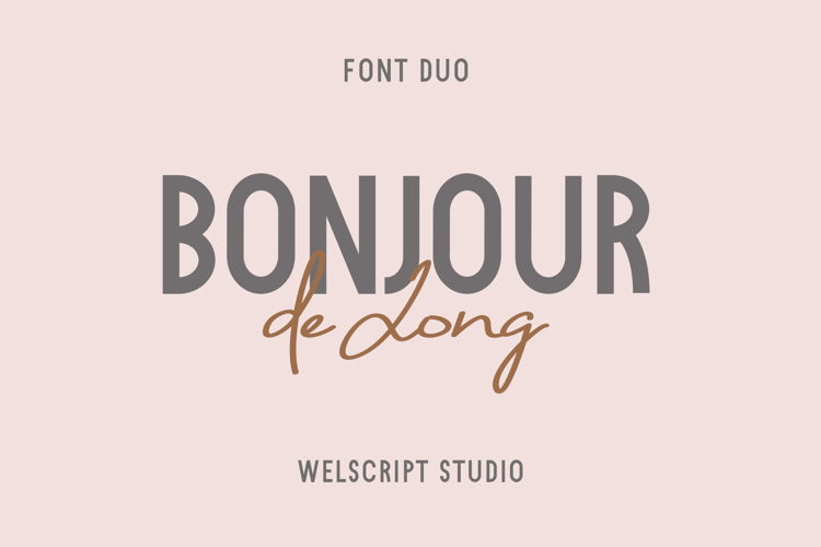 Bonjour De Jong Sans Font