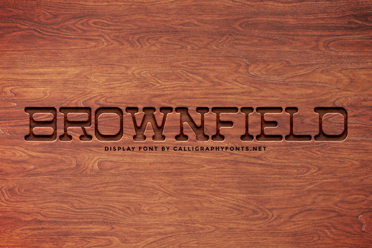 Brownfiled Font