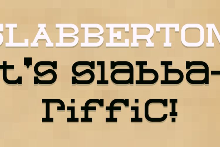 Slabberton Font