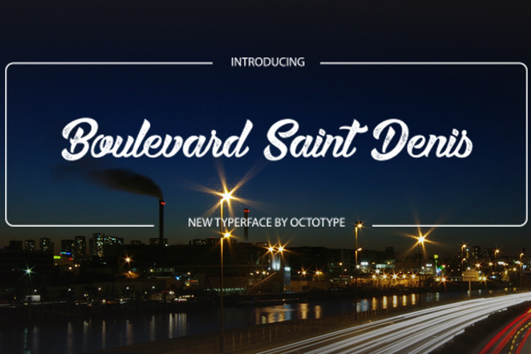 Boulevard Saint Denis Font