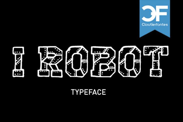 CF I Robot Font