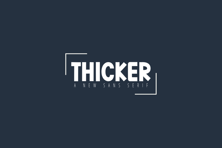 Thicker Font