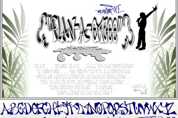 PLAN-A-EMCEE Font