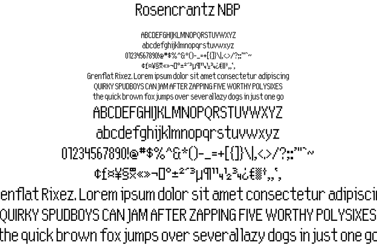 Rosencrantz NBP Font