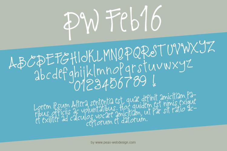 PWFeb16 Font