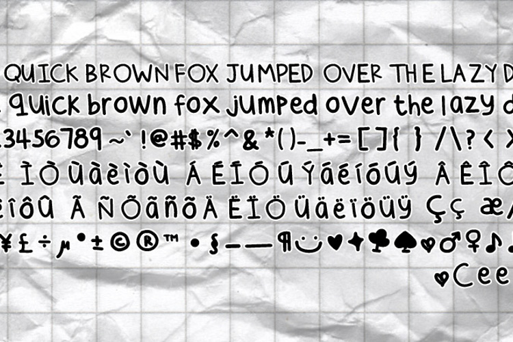Cee's Hand Font