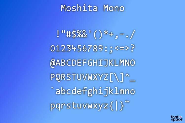 Moshita Mono 5.62 Font
