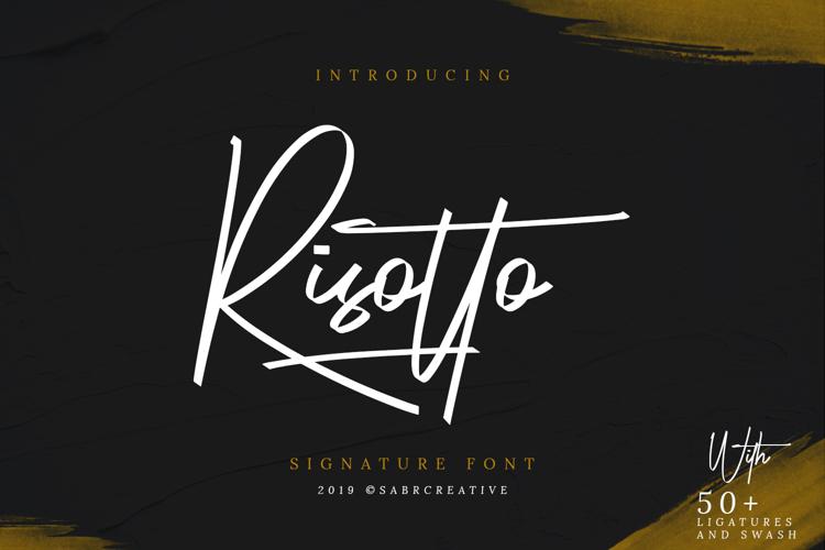 Risotto Signature Font