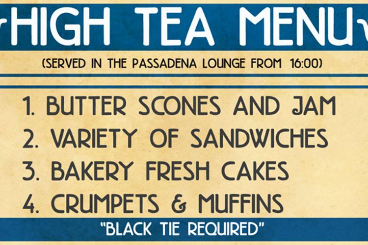 DK High Tea Font