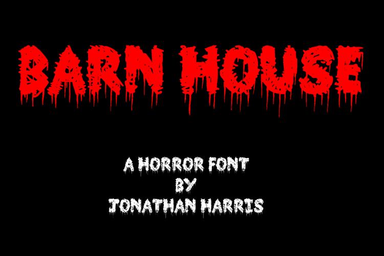 Barn House Font