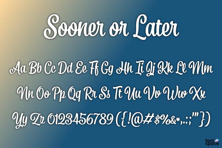 BB Sooner or Later Font