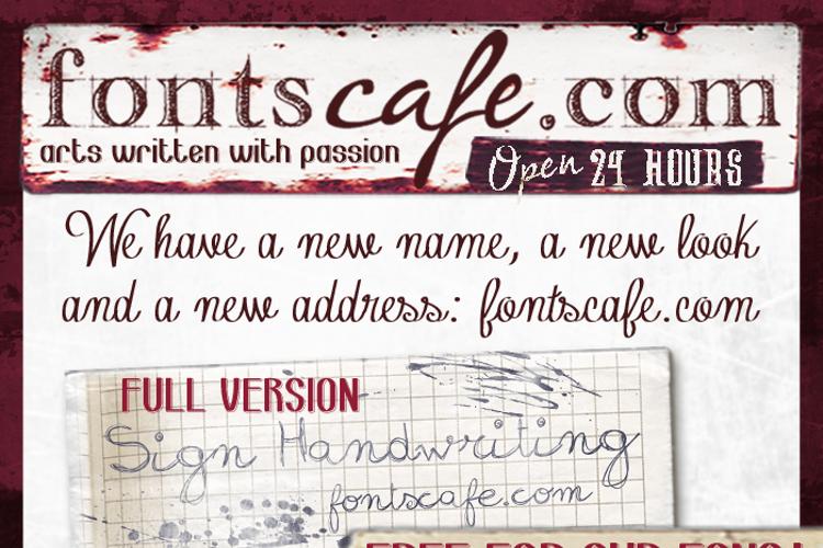 sign handwritng Font