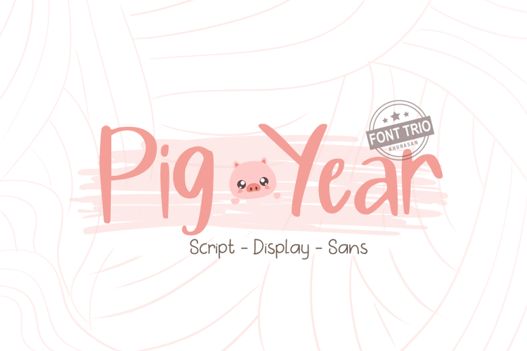 Pig Year Display Font