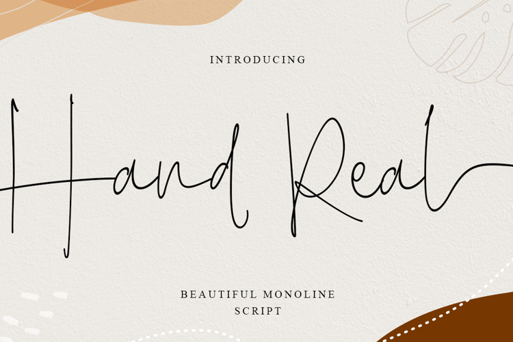 Hand Real Font