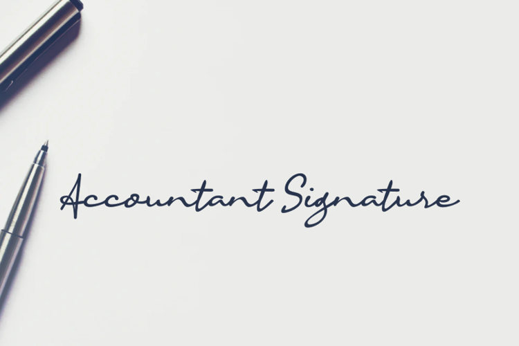 a Accountant Signature Font