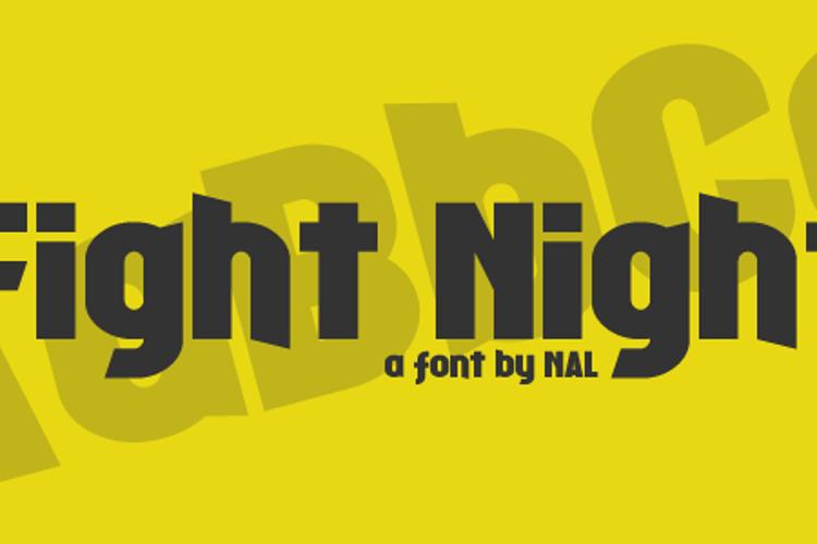 Fight Night Font