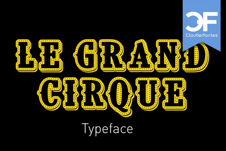 CF Le grand cirque Font