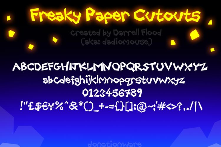 Freaky Paper Cutouts Font