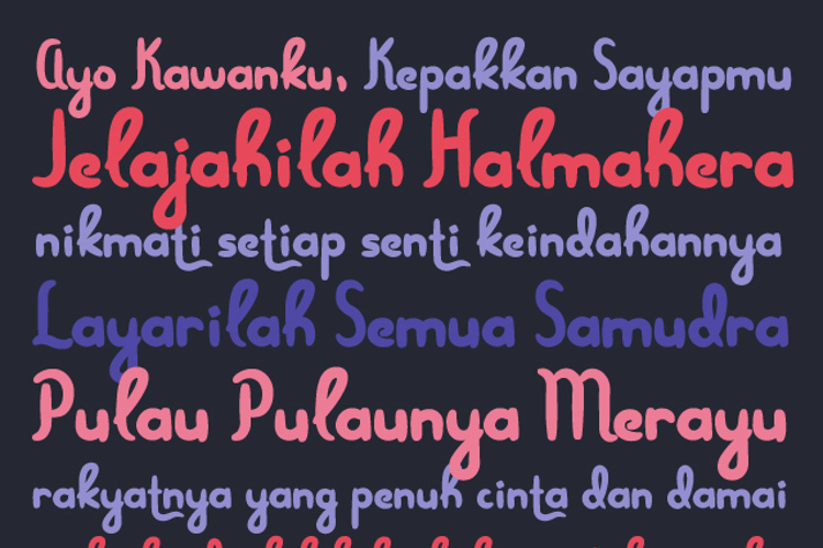 Menjelajah Halmahera Font