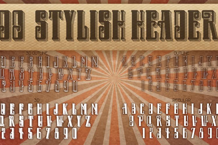 DO Stylish Header Font
