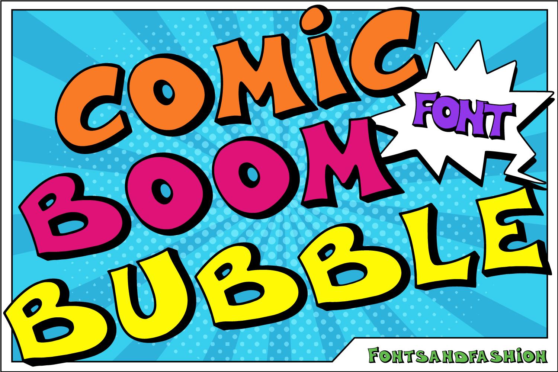 Comic Boom Bubble Font Fontsandfashion Fontspace