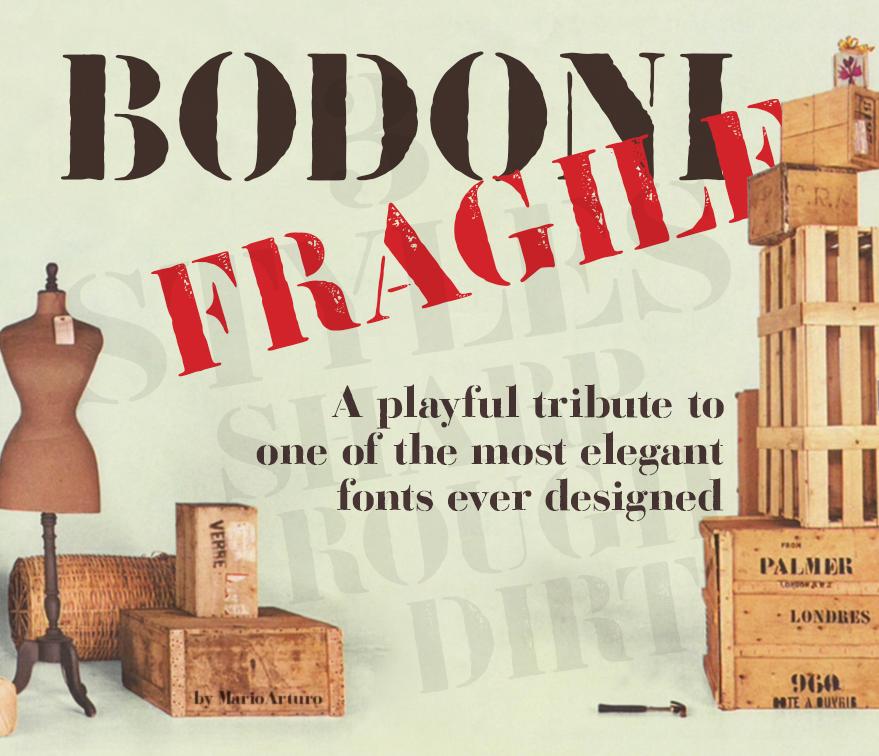Bodoni Fragile Font Family (3 Styles) By Mario Arturo