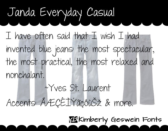 Janda Everyday Casual Font Kimberly Geswein Fontspace