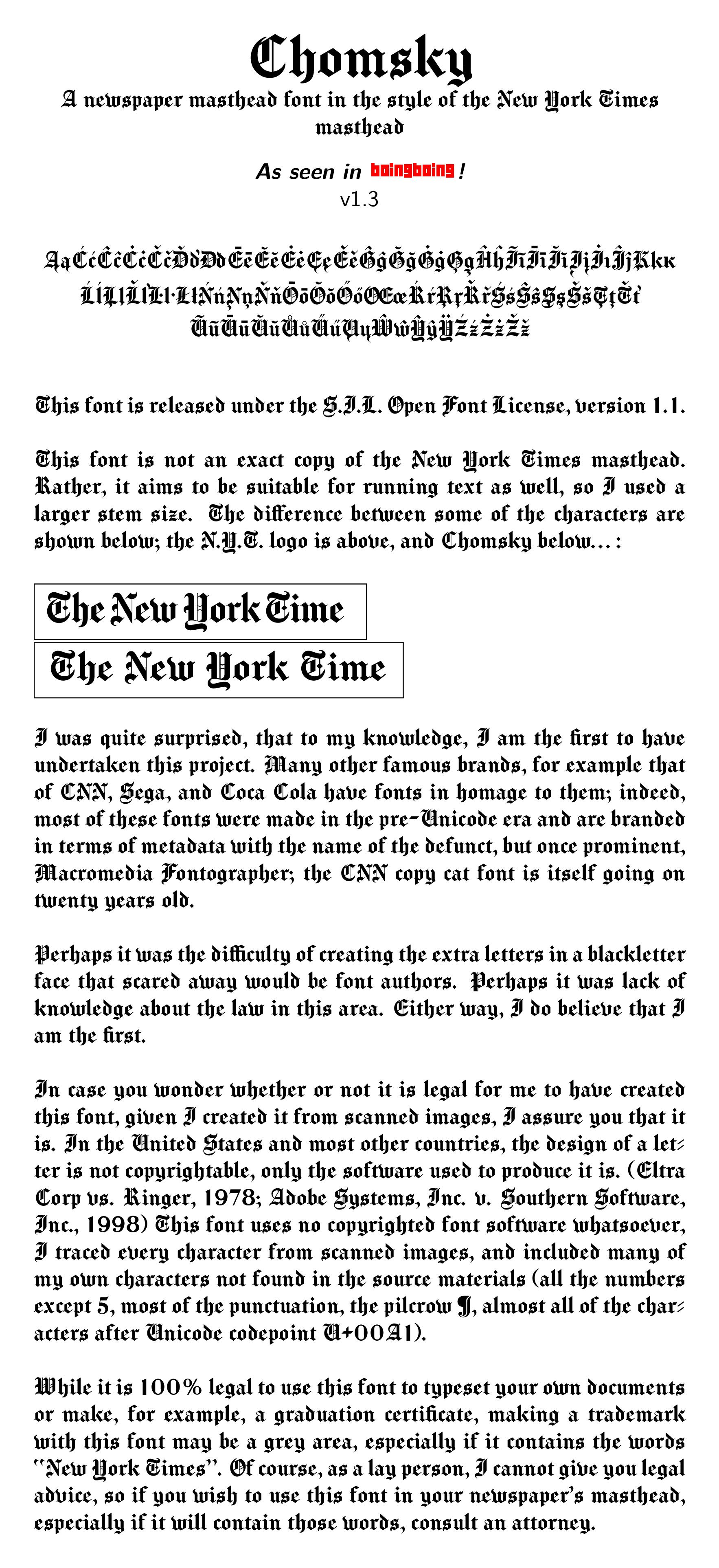Chomsky Font | Infinite Type | FontSpace