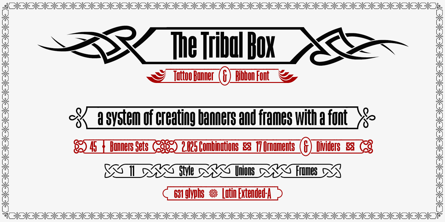 The Tribal Box Font Defharo Fontspace
