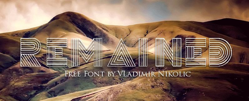 Remained Font | Designed by Vladimir Nikolic