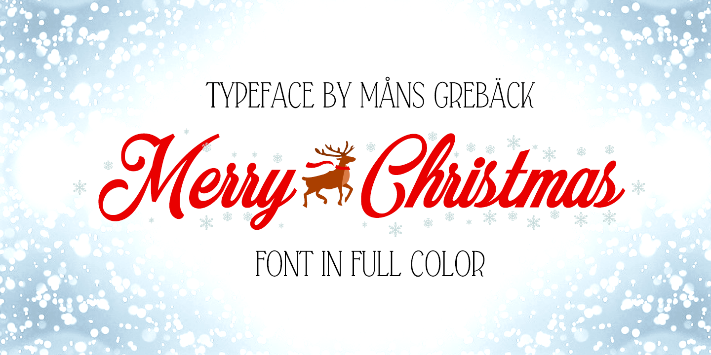 Merry Christmas Color Font | Måns