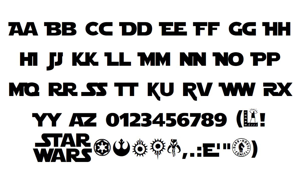 Star Jedi Font   Boba Fonts