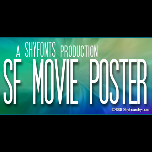 SF Movie Poster Font Family (8 Styles) By ShyFoundry